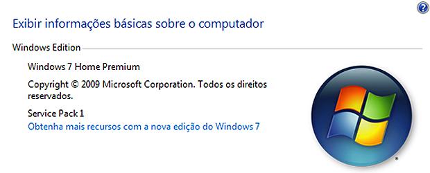 Windows 7 Service Pack 1 instalado com êxito (Foto: Reprodução)
