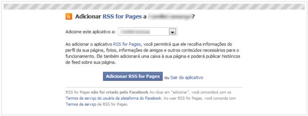 Defina em qual página o app será instalado (Foto: Reprodução/Camila Porto)