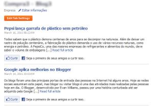 Visualização dos posts (Foto: Reprodução/Camila Porto)