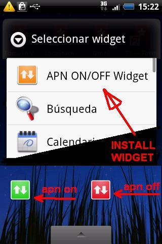 APN on-off Widget (Foto: Divulgação)