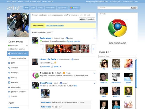 Orkut (Foto: Reprodução/ Orkut)