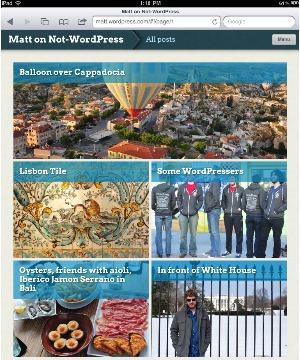 Wordpress para iPad (Foto: Reprodução)