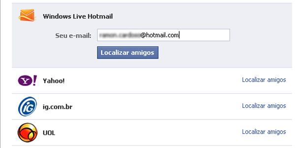 Localizar amigos no Facebook (Foto: Reprodução/TechTudo)
