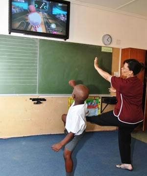 Uso do Kinect na sala de aula (Foto: Divulgação)