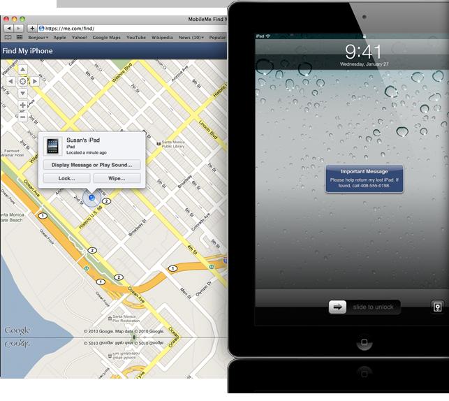 Localize o seu iPad e envie uma mensagem para ser exibida em sua tela (Foto: Divulgação)