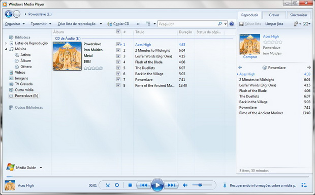 Abra o Windows Media Player 12 e insira o CD a ser copiado no seu drive  (Foto: Reprodu&#231;&#227;o/Fernando Motta)