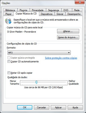 "Aba ""Copiar configura&#231;&#245;es em CD"" (Foto: Reprodu&#231;&#227;o/Fernando Motta)"