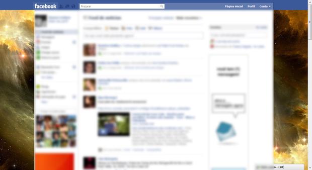 Alterando o tema do Facebook (Foto: Reprodução/TechTudo)