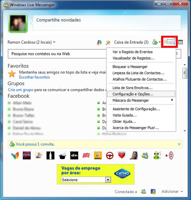 Contas múltiplas com o Messenger Plus! (Foto: Reprodução/TechTudo)