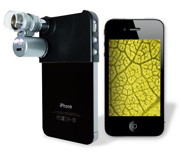 Lente que transforma iPhone em microscópio (Foto: Divulgação)
