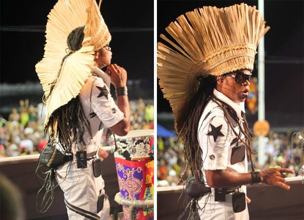 Roupa percussiva de Carlinhos Brown (Foto: Divulgação)