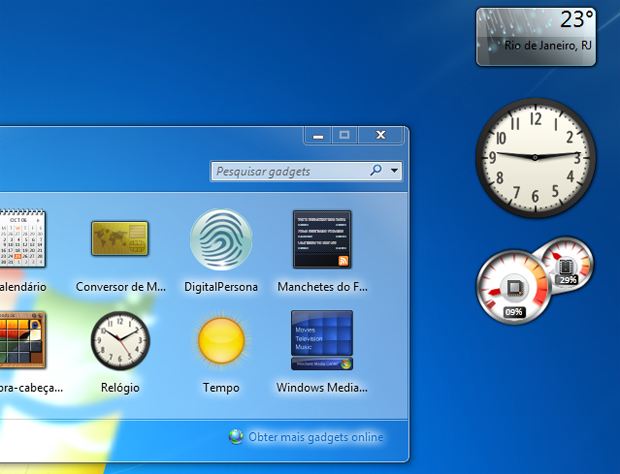 Como colocar gadgets no desktop do windows 7 dicas e - Telecharger gadget meteo bureau gratuit ...