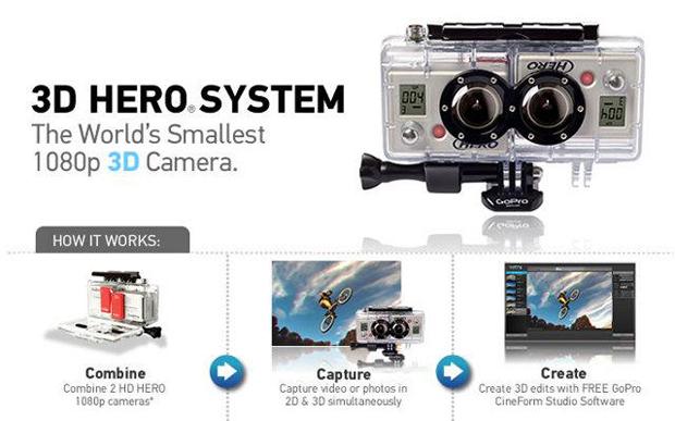 GoPro 3D Hero (Foto: Divulgação)