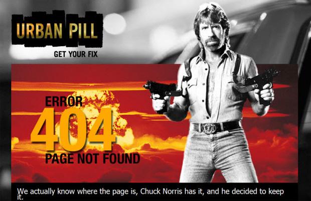 Erro 404 da Urban Pill (Foto: Reprodução)