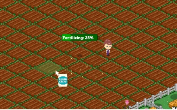 Adubar a terra do vizinho é uma opções sociais do game (Foto: Reprodução/Fox Xavier)