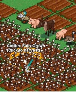 Mouse posicionado acima da plantação mostra o status da colheita (Foto: Reprodução /Fox Xavier)