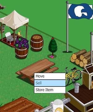 Menu flutuante oferece a opção de vender o que você já adquiriu (Foto: Reprodução / Fox Xavier)