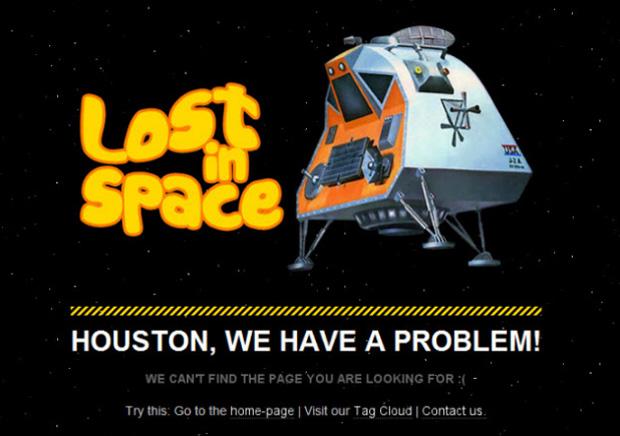 Perdido no espaço na página de Erro do Abduzeedo (Foto: Reprodução)