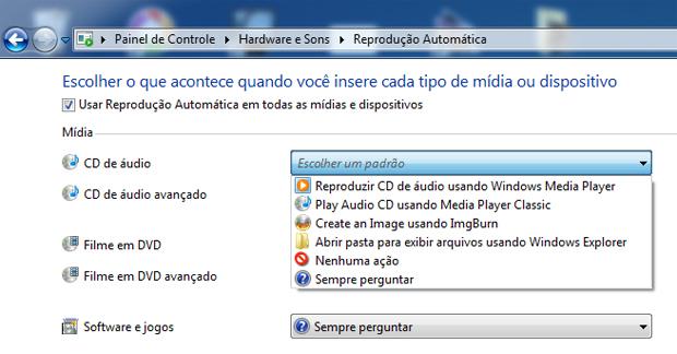 Configurações de reprodução automática (Foto: Reprodução/TechTudo)
