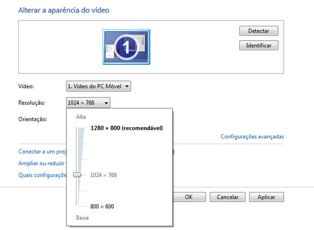 Resolução de tela no Windows (Foto: Reprodução/TechTudo)