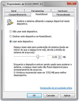 ReadyBoost no Windows 7 (Foto: Reprodução/Microsoft)
