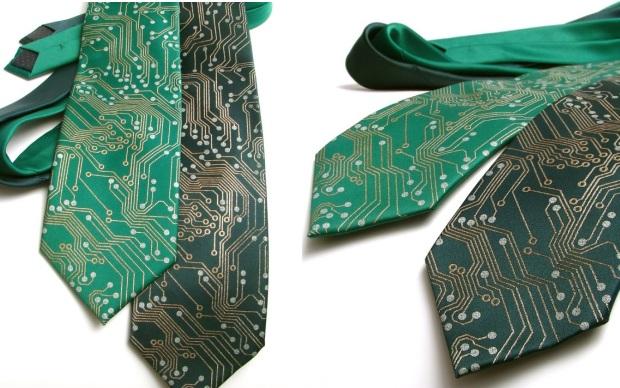 Gravatas que imitam circuitos (Foto: Divulgação)