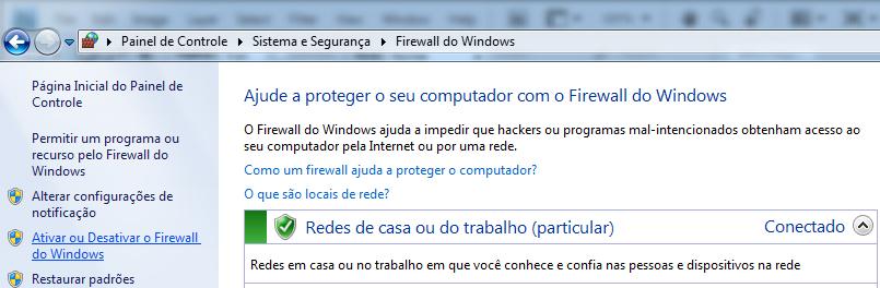 Ativar e desativar o Firewall do Windows 7 (Foto: Reprodução/TechTudo)