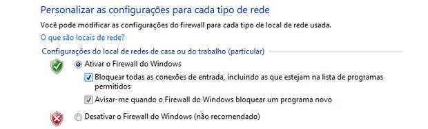 Ativando o Firewall do Windows 7 (Foto: Reprodução/TechTudo)