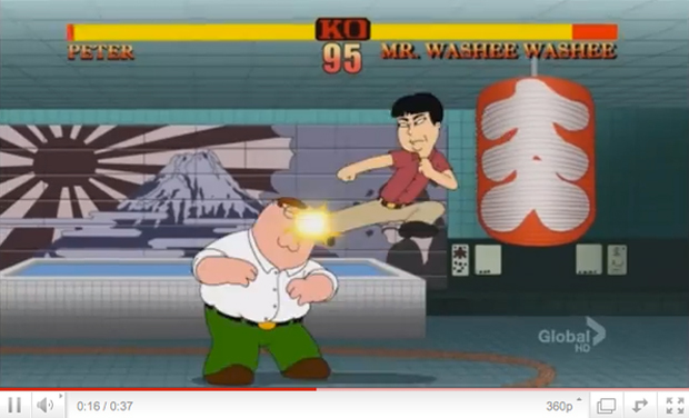Street Fighter II em Family Guy  (Foto: Capcom Unity)