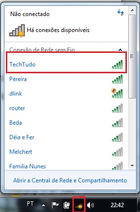 Conexão Wi-Fi configurada (Foto: Reprodução/Daniele Monteiro)