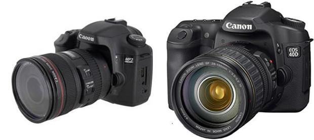 Um MP3 player que parece uma câmera fotográfica (Foto: Reprodução)
