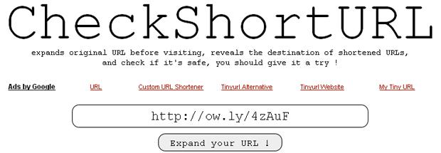 Expandindo uma URL encurtada (Foto: Reprodução/TechTudo)