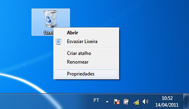 Configurando a lixeira do Windows 7 (Foto: Reprodução/TechTudo)