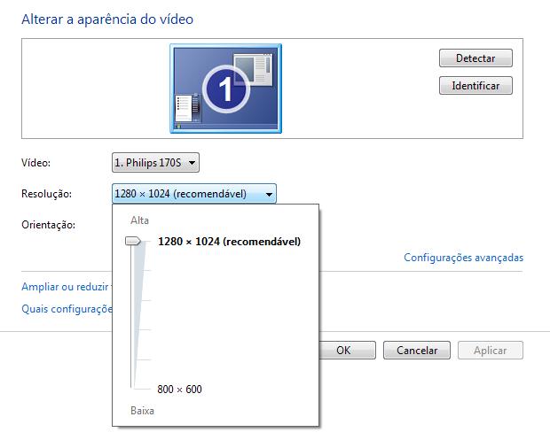 Ajustando a resolução de tela no Windows 7 (Foto: Reprodução/Paulo Higa)