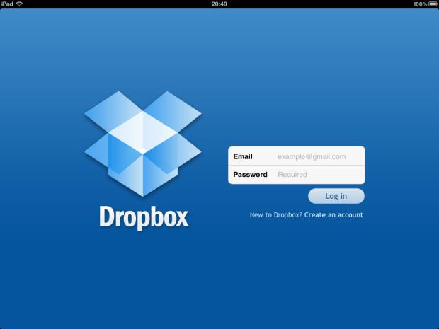 Dropbox (Foto: Reprodução/Camila Porto)