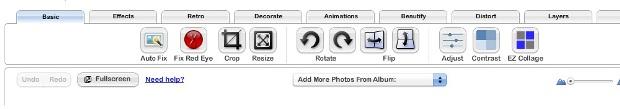 Menu do editor de imagens integrado (Foto: Reprodução/Fox Xavier)