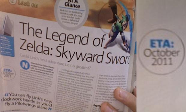 The Legend of Zelda: Skyward Sword pode sair em Outubro (Foto: Nintendo 3DS Launch Portal)