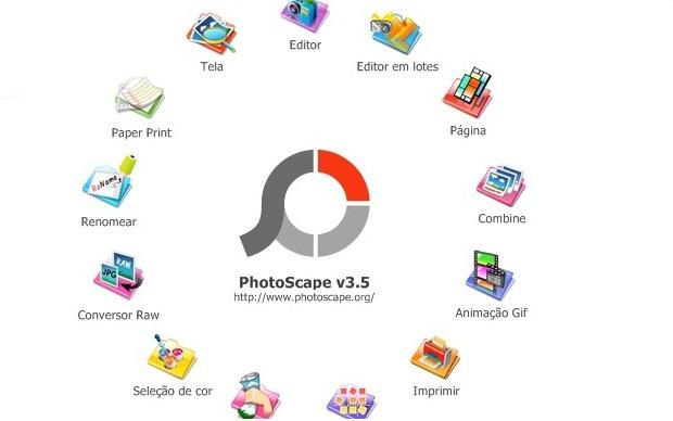 Menu de apresentação do Photoscape (Foto: Reprodução/Fox Xavier)