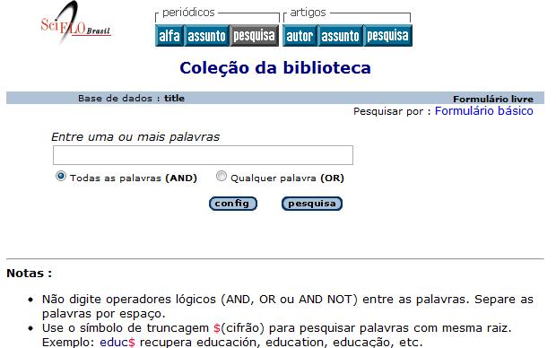 Scientific Electronic Library Online (Scielo) (Foto: Reprodução)