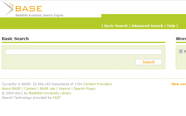 Bielefield Academic Search Engine (BASE) (Foto: Reprodução)