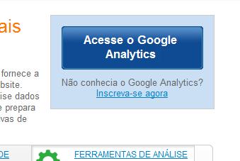 """Clique em """"Acesse o Google Analytics"""" (Foto: Reprodução)"""