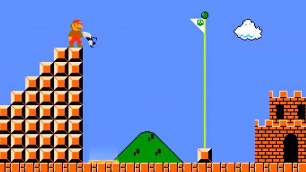 Mario com a arma de Portal 2  (Foto: Reprodução)