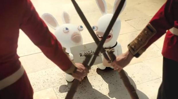 Os coelhos querendo entrar na cerimônia de casamento do Príncipe William (Foto: Reprodução)