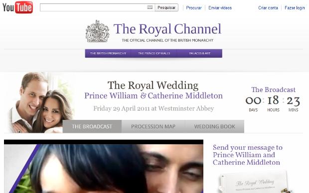The Royal Channel no YouTube (Foto: Reprodução)