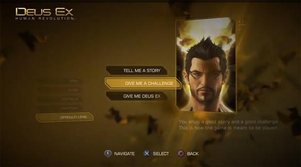 Dificuldade é facilmente ajustável em Deus Ex: Human Revolution (Foto: Divulgação)