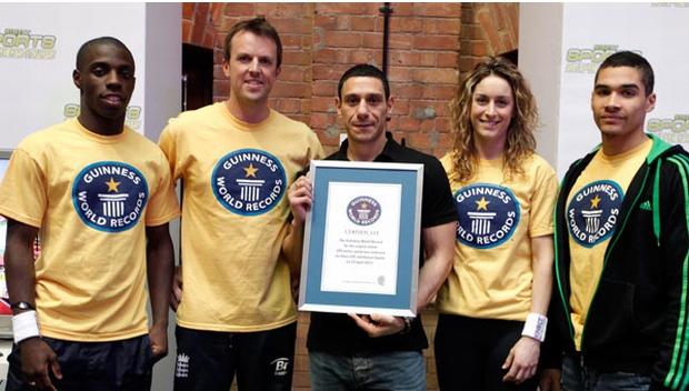 Premiação do Guinness Book (Foto: Divulgação)