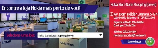 Nova Nokia Store no NorteShopping (RJ) (Foto: Reprodução)