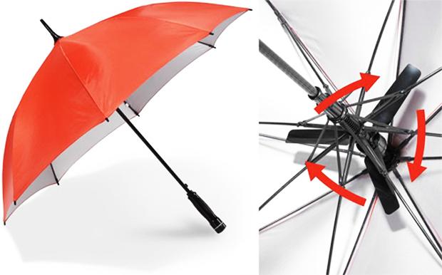 Fanbrella, um guarda-chuva com ventilador (Foto: Reprodução/OhGizmo)