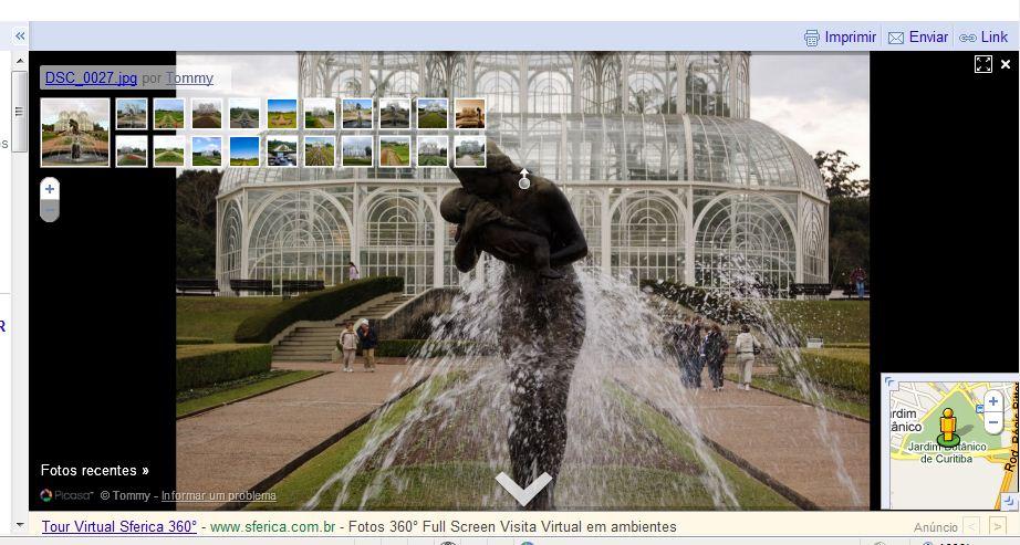 Jardim Botânico de Curitiba-PR via Google Street View (Foto: Reprodução)