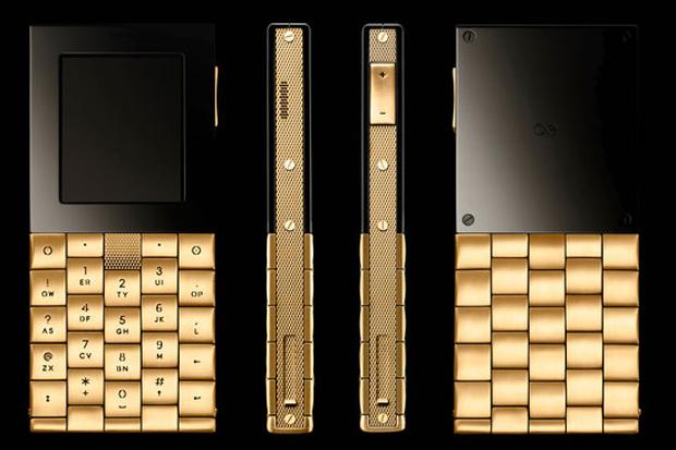 Celular de ouro possui poucas funções (Foto: Divulgação)